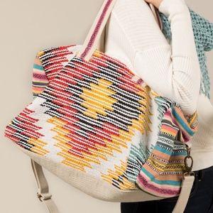 Handbags - NWT Boho Weekender Carpet Duffle Travel Tote Bag
